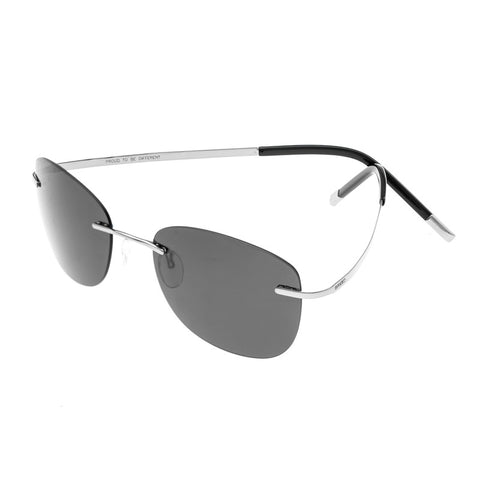Breed Adhara Polarized Sunglasses - Silver/Black BSG043SL