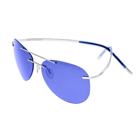 Breed Luna Polarized Sunglasses - Silver/Purple-Blue BSG044SL