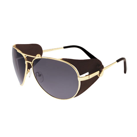 Breed Eclipse Titanium Polarized Sunglasses - Gold/Black BSG048BN