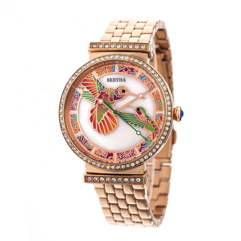 Bertha Emily Mother-Of-Pearl Bracelet Watch - Rose Gold BTHBR7803