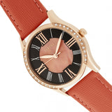 Bertha Sadie Mother-of-Pearl Leather-Band Watch - Coral BTHBR8406