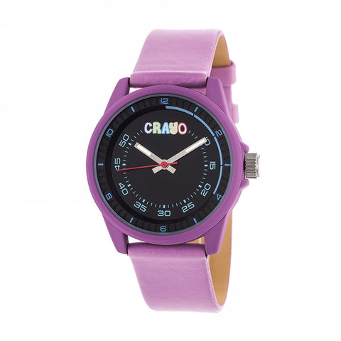 Crayo Jolt Leatherette Strap Watch - Light Pink CRACR4905