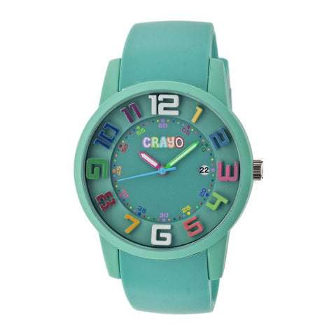 Crayo Festival Unisex Watch w/ Date - Teal CRACR2003