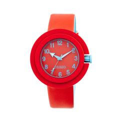 Crayo Equinox Unisex Watch - Red/Cerulean