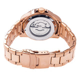 Heritor Automatic Pytheas Bracelet Watch w/Date - Rose Gold/Black HERHR2105