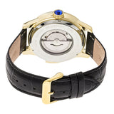 Heritor Automatic Prescott Leather-Band Watch w/ Day/Date - Gold/Black HERHR6703