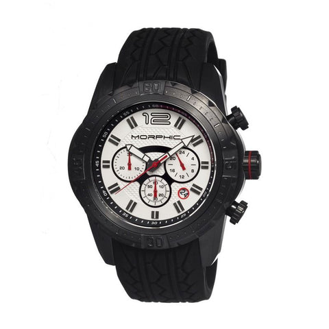 Morphic M27 Series Chronograph Men's Watch w/ Date - Black/White MPH2704