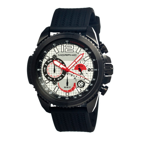 Morphic M28 Series Chronograph Men's Watch w/ Date - Black/Silver MPH2803