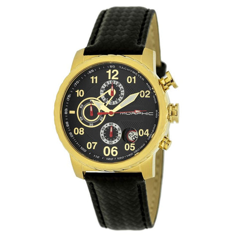 Morphic M38 Series Chronograph Men?s Watch w/ Date - Gold/Black MPH3806