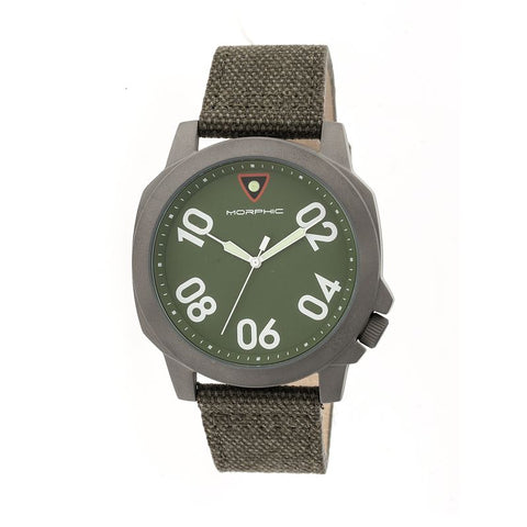 Morphic M41 Series Canvas-Band Men's Watch - Olive/Green MPH4104