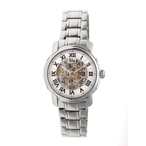 Reign Kahn Automatic Skeleton Bracelet Watch - Silver REIRN4301