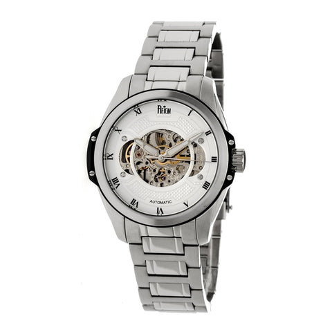 Reign Henley Automatic Semi-Skeleton Bracelet Watch - Silver/White REIRN4501