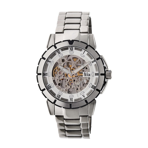 Reign Philippe Automatic Skeleton Bracelet Watch - Silver/White REIRN4601