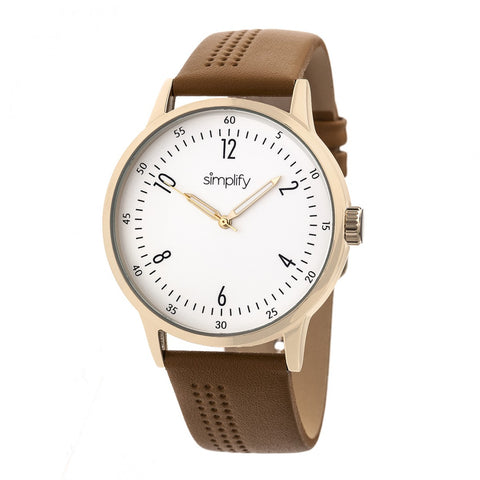 Simplify The 5700 Leather-Band Watch - Brown SIM5704