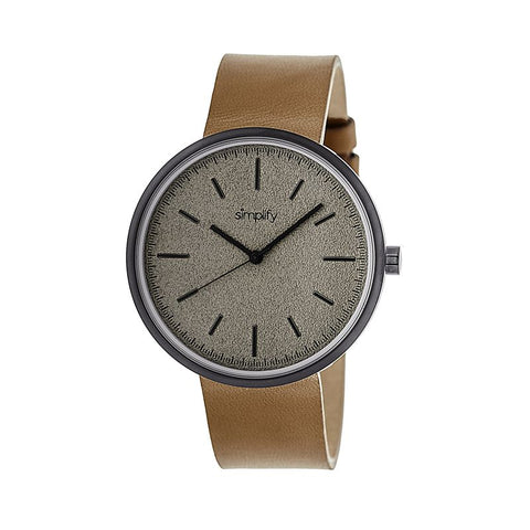 Simplify The 3000 Leather-Band Watch - Camel SIM3007