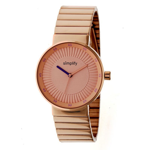 Simplify The 4600 Bracelet Watch - Rose Gold/Purple SIM4604