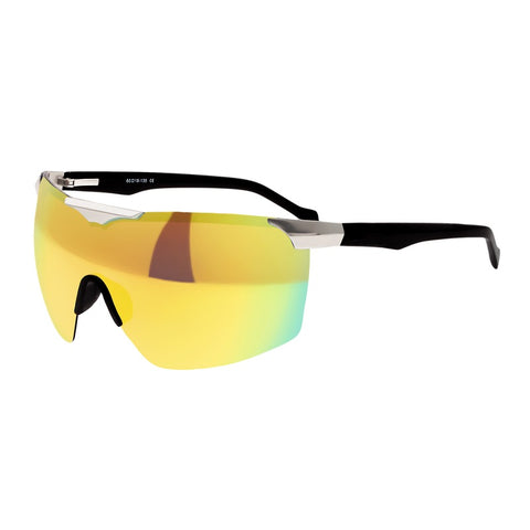 Sixty One Shore Polarized Sunglasses - Silver/Blue-Green SIXS131YW