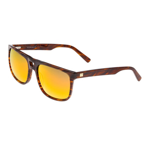Sixty One Morea Polarized Sunglasses - Brown Tortoise/Yellow-Red SIXS134YW