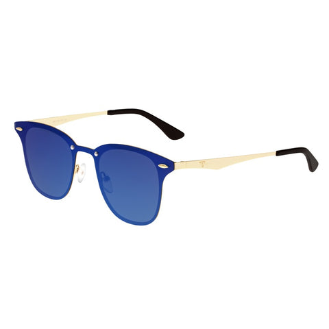Sixty One Infinity Polarized Sunglasses - Gold/Purple-Blue SIXS142PB