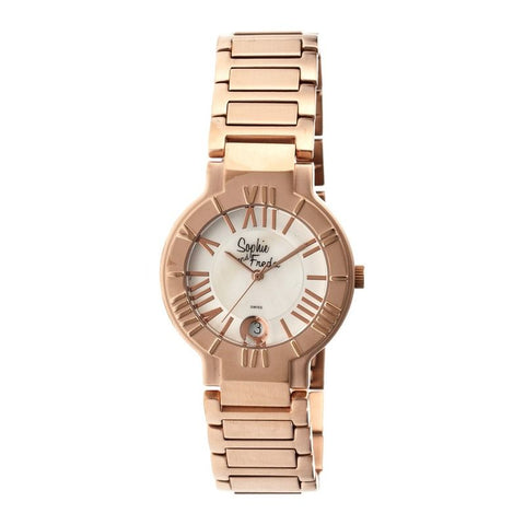 Sophie & Freda Rushmore MOP Ladies Bracelet Watch - Rose Gold/White SAFSF1203