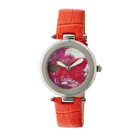 Sophie & Freda Butchart Leather-Band Ladies Watch - Orange SAFSF1703