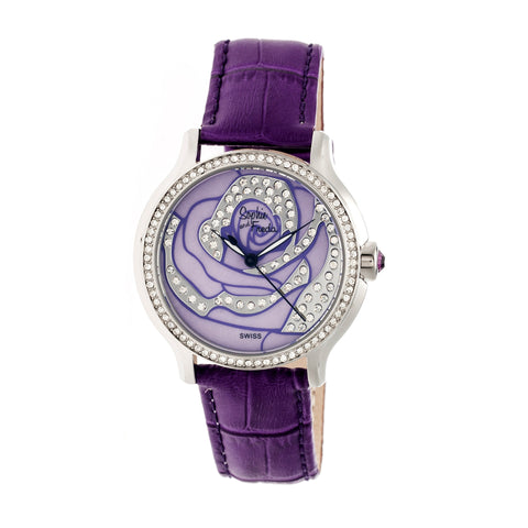 Sophie & Freda Monaco MOP Swiss Ladies Watch - Silver/Purple SAFSF2704