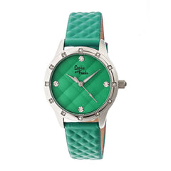 Sophie & Freda Lancaster Leather-Band Ladies Watch - Green