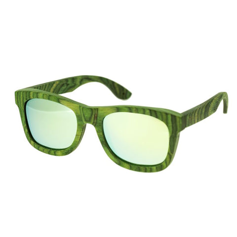 Spectrum Slater Wood Polarized Sunglasses - Green/Green SSGS101GY