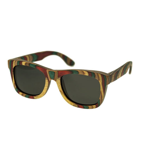 Spectrum Moriarty Wood Polarized Sunglasses - Multi/Black SSGS107BK