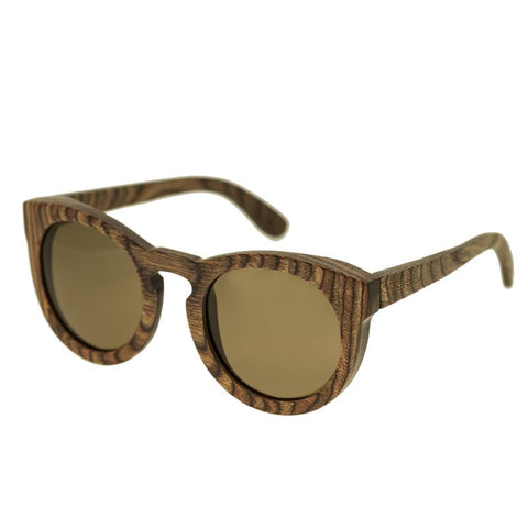 Spectrum Flores Wood Polarized Sunglasses - Brown/Brown SSGS127BN