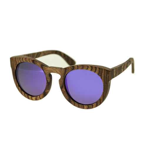 Spectrum Flores Wood Polarized Sunglasses -Brown/Purple SSGS127PU