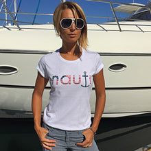 """Maui"" NAUTI American Flag / Stars and Stripes CLICK for Multi Color Selection Ladies' t-shirt"