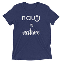 """NAUTI by Nature"" Men's Adult Anchor T-shirt in Heather Grey, Charcoal, Black, Grey, Navy, Royal, Clay, Blue, Aqua or ed"