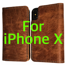 iPhone X Dark Brown w/BLUE Stitching Distressed Leather (Limited Edition)