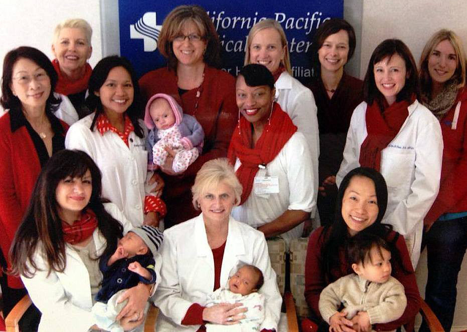 Prenatal medical staff at California Pacific Medical Center