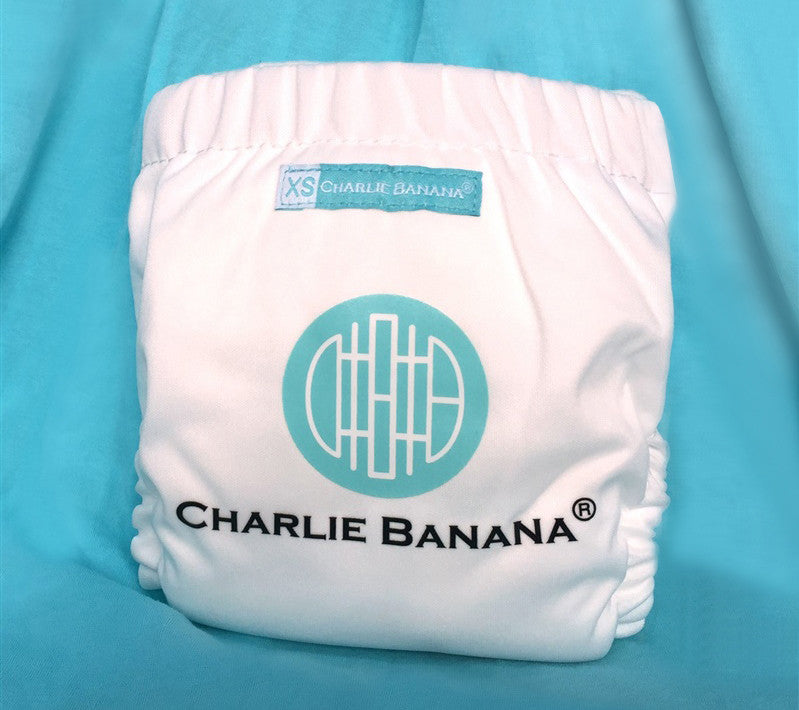 Charlie Banana White Logo Reusable Cloth Diaper