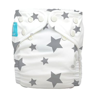 Diaper 2 Inserts Organic Twinkle Little Star Grey One Size