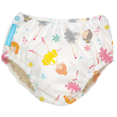 2-in-1 Swim Diaper & Training Pants Diva Ballerina Medium