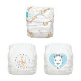 3 Diapers 6 Inserts Classic Sophie La Girafe One Size Hybrid AIO