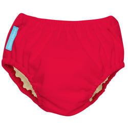 2-in-1 Swim Diaper & Training Pants Red Small