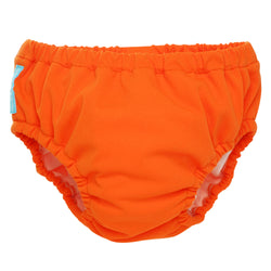 2-in-1 Swim Diaper & Training Pants Orange Medium