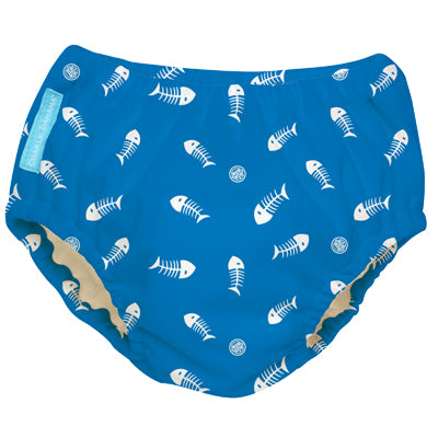 2-in-1 Swim Diaper & Training Pants Fish Sticks Blue Medium