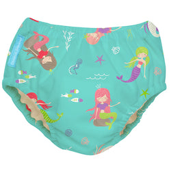 2-in-1 Swim Diaper & Training Pants Mermaid Jade Large