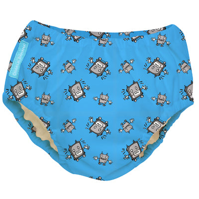2-in-1 Swim Diaper & Training Pants Matthew Langille Robot Boy Small