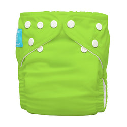 Diaper 2 Inserts Green One Size Hybrid AIO