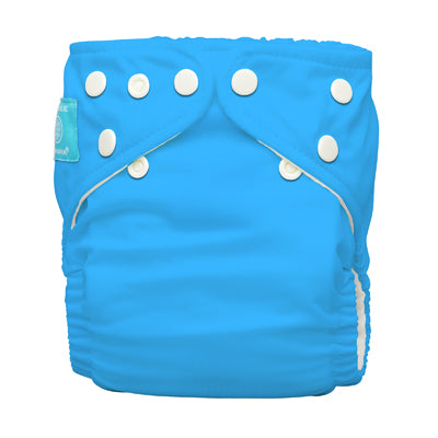 Diaper 2 Inserts Turquoise One Size Hybrid AIO