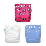 3 Diapers 6 Inserts Hot Robot One Size