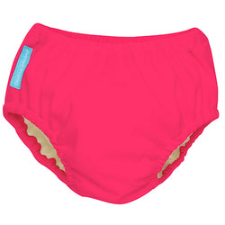 2-in-1 Swim Diaper & Training Pants Fluorescent Hot Pink Medium