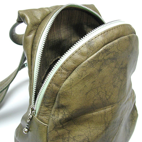 leather backpack, sling bag, knapsack