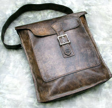 Women's Brown Leather Handbag Lined Hand Stitched Bag Purse - Danica